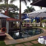 Garden Restaurant Near swimming pool of Hotel Viva Goa International