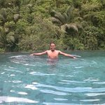 Swimming on the edge of a tropical rain forest!