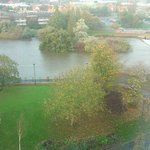This is the view from the bar window overlooking the River Derwent and its walkway