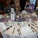 Beautifully laid out wedding breakfast table