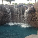 Waterfalls in the pool
