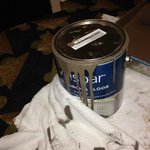 Can of Paint right in front of my door