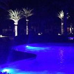 Pools are all gorgeous at night with this blue glow