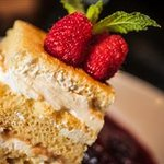 Tres Leches in Wildberry Stew