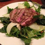 Cowfish's baby kale salad with flank steak