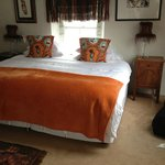 Super King bed in Orange room