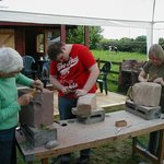 Stone Carving at The Potters Barn