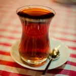 Turkish tea served in the mornings