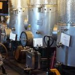 Stainless Steel Tank Full of Wine