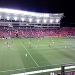 Real Salt Lake Match in the Rain at Rio Tinto Stadium