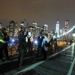 The riders on the Brooklyn bridge