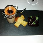 My lovely starter, Chicken and liver pate.