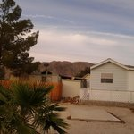 Early sunset behind my friends rental, small house, Casita, they are called.