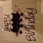 Deconstructed Black Forest gateau with message!
