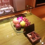 Welcome fruits and chocolates upon arrival
