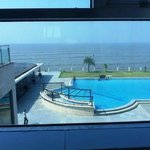 View from sea/swimming pool facing room