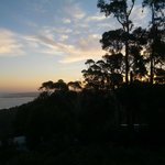 Sunset and view of Apollo Bay and the Bush from 'Marriners'