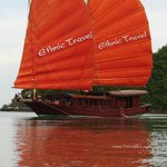 Ethnic Travel's own boat for Bai Tu Long Bay