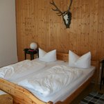 Large comfortable bed very rustic