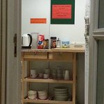 Kitchen with FREE tea and coffee all day!