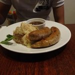 Lamb and rosemary sausages and mash