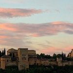 Not far from our room - early morning Alhambra view