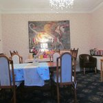 The dining room: we had breakfast there