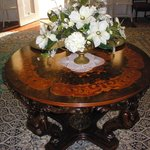 Table in foyer