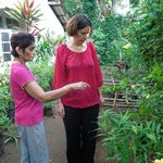 WIth Arlene in the kitchen garden