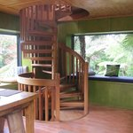 Kitchen, lounge & dining area, great bush views