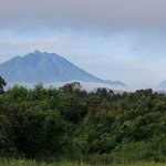 View from the garden at Traveller's Rest, Kisoro