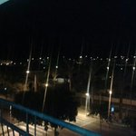 balcony view at night