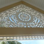 The gorgeous fretwork on our balcony