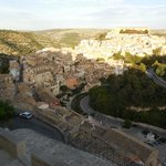 view of Ragusa-Ibla from ancient stairway