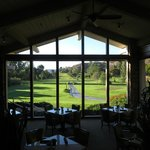 View up the 10th fairway from the dining room, Aqua Terra.