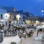 Lots of nightlife in downtown Ostuni.