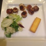 Scallops (presentation a little shabby [and I added that thing that resembles a fish finger - it