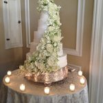 Beautiful cake, likely off-site caterer