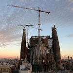 Sagrada Familia at sunset