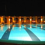 Soleil pool at night
