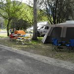 camping at the base of the beautiful grampians mountains
