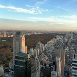 view of Central Park from 47 floor room