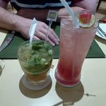 Mojito and Singapore sling cocktails at the Citrus Restaurant