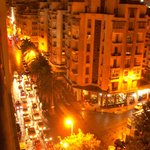 Looking down on Hassan Seghir from our balcony