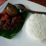 gudeg for breakfast!!! delicious!