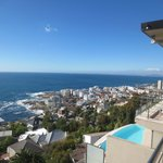 View from penthouse to Sea Point