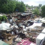 Rooftop view 2 - architectural salvage yard