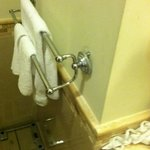 Room 7520 Broken Towel Rack in Bathroom
