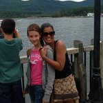 My daughter and I in front of Lake George