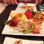 chicken kebab with veg & chips - food is fab